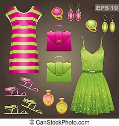 Fashion set. vector, gradient, EPS 10