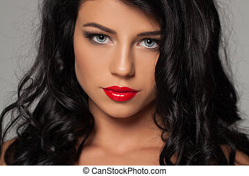 Fashion sexy woman beauty portrait