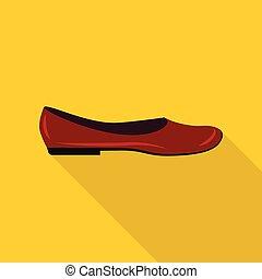 Fashion shoe icon, flat style