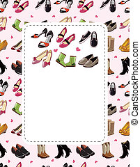 fashion shoe sale card