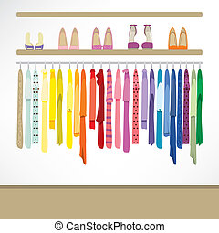 Fashion Shop Background - Fashion shop background with...