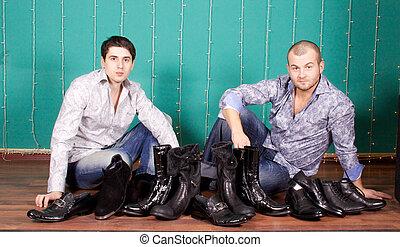Fashion Shot of a trendy European men