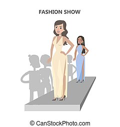 Fashion show catwalk.