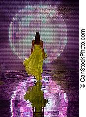 Fashion show catwalk model