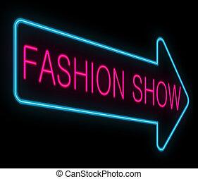 Fashion show concept. - Illustration depicting a neon ...