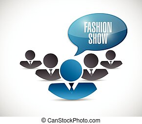 fashion show sign illustration design over a white...