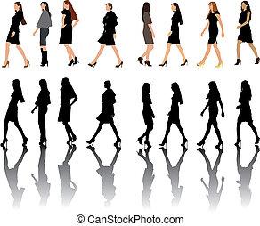 Fashion show silhouettes collection - Fashion show women...