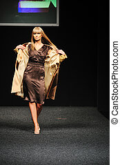 fashion show woman - fashion show event and beautiful young...