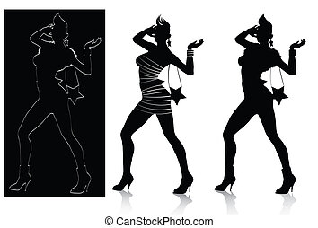 Fashion silhouette set