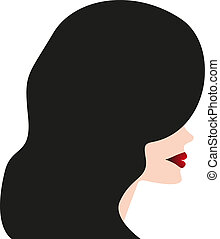 Fashion silhouette woman - Stock Illustration