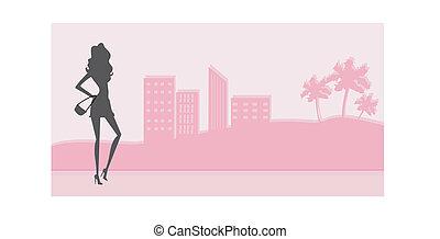 fashion silhouettes girls Shopping