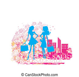 fashion silhouettes girls Shopping
