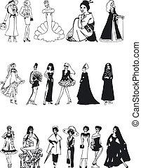 Fashion Silouettes - Illustration of Fashion Silouettes
