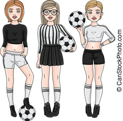 Fashion soccer players