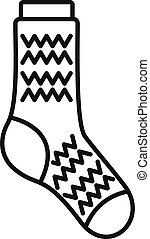 Fashion sock icon outline vector. Sport collection