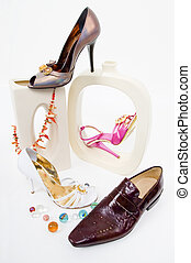 Fashion still-life with glamour shoes