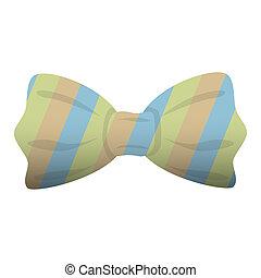 Fashion striped bow tie icon, cartoon style