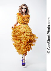 Fashion style - beauty woman posing