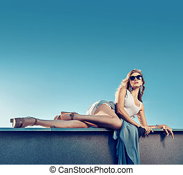 Fashion style photo of an alluring woman