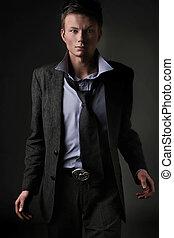 Fashion style photo of an elegant man