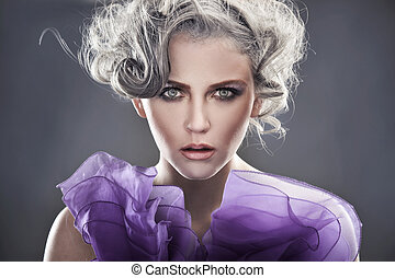 Fashion style portrait of a young lady