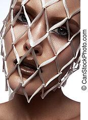 Fashion Stylish Beauty Portrait. Beautiful Girl's Face Close-up. Haircut. Hairstyle.