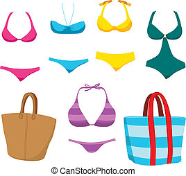 Fashion Swim Wear And Accessories - Collection of...