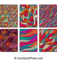 Fashion tablet skins. Modern abstract backgrounds with wave lines to customize your original device, design for card, label, tag, sticker.