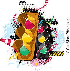 fashion traffic lights pattern design.