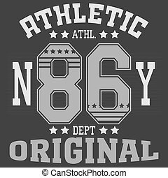 New York Sport - Fashion Typography Graphics. New York Sport...