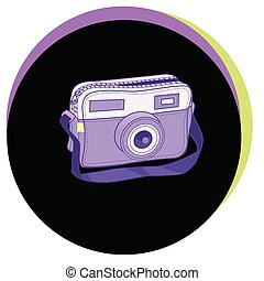 Fashion Vector Illustration. Stylish ladies bag in the form of a camera.