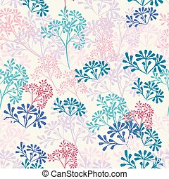 Fashion vector pattern with rustic florals in vintage style