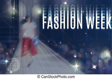fashion week flyer - fashion show abstract vector background...