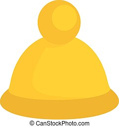 Fashion winter hat icon, flat style