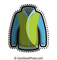 Fashion winter jacket icon vector illustration design