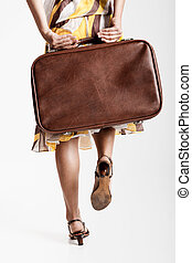Fashion Woman - Beautiful fashion woman posing with a ...
