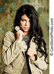 Fashion woman, beauty portrait
