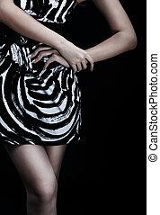 Fashion - Woman in fashion, body parts.