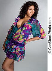 Fashion Woman - Beautiful african american fashion woman
