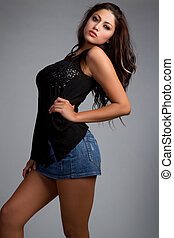 Fashion Woman - Sexy latin fashion woman posing