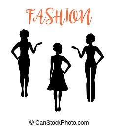 Fashion woman silhouette in business style