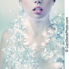Fashion woman with jewelery