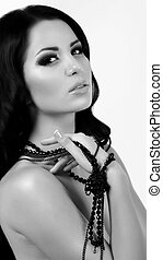 woman with jewelry precious