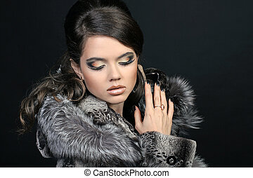 Fashion Woman with make up.