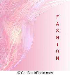 Fashion wording  with pink line attractive background