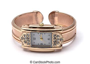 fashion wrist watch - Woman fashion wrist watch isolated on...