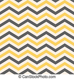 Fashion zigzag pattern in yellow colors, seamless vector...