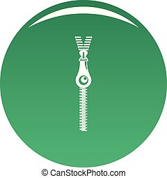 Fashion zip icon vector green