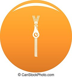 Fashion zip icon vector orange