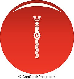 Fashion zip icon vector red